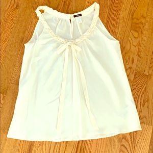 JCREW Sleeveless shirt in ivory